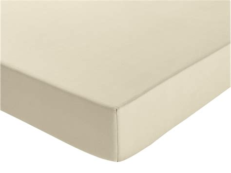 argos home 100 cotton ivory ex deep fitted sheet king