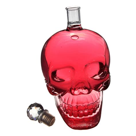 buy ml crystal skull head vodka whiskey decanter glass