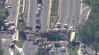 Pedestrian bridge collapses onto Washington, DC, highway ...
