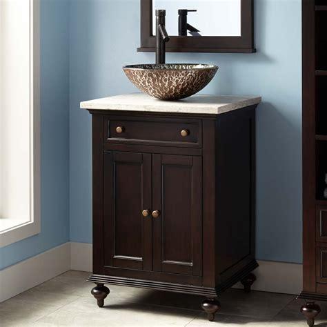 24 Vanity With Sink by 24 Quot Keller Mahogany Vessel Sink Vanity Espresso In