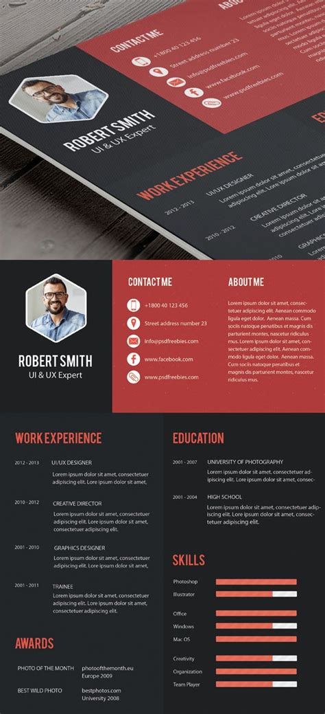 Creative Professional Resume Templates by Creative Professional Resume Template Free Psd Free Psd