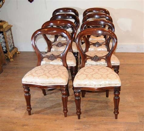 8 mahogany dining chairs balloon back ebay