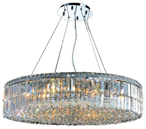 Large Circular Chandelier by Cascade 18 Light Chrome Finish And Clear 32 Quot D