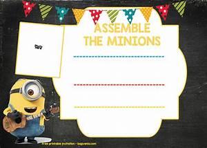 Invitation Words Minion Birthday Invitation Template Free Download Free