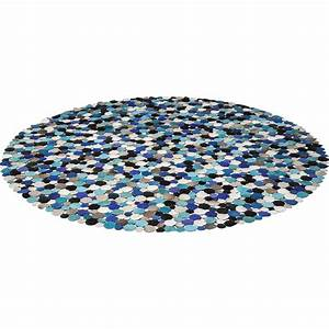 tapis rond circle multi bleu 250cm kare design With tapis design bleu