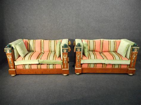 canapés de qualité paire de canapé style empire epoque fin xixème grande