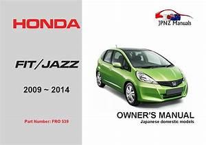 Honda  U2013 Fit    Jazz Car Owners Manual