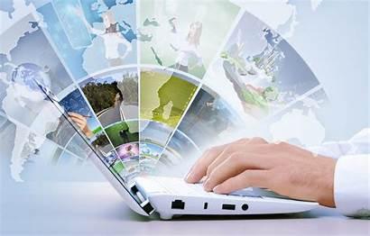 Tech Hi Internet Laptop Map Technology Hands