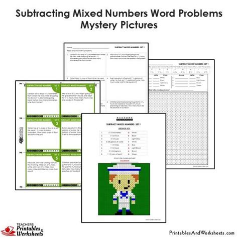 4th grade subtracting mixed numbers word problems coloring worksheets printables worksheets