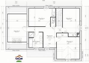 maisons 5 chambres 5 With plan de maison a etage 5 chambres