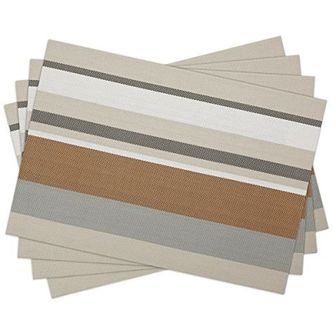 Dining Table Place Mats - sicohome vinyl placemats gold placemats for dining table