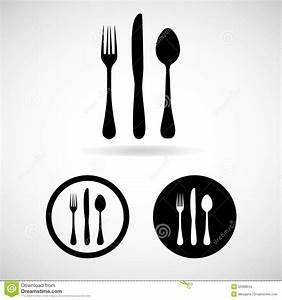 Fork Spoon Knife Vector And Icon, EPS10 Stock Vector ...