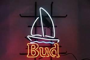 Bud Light Sail Boat Neon Light Sign 16