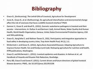 How do you right a bibliography