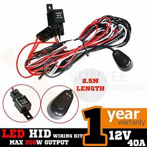 Led Hid Spot Work Driving Light Bar Wiring Loom Harness