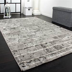 Teppich Altrosa Grau : edler designer teppich mit steinwand optik in grau schwarz meliert ebay ~ Whattoseeinmadrid.com Haus und Dekorationen