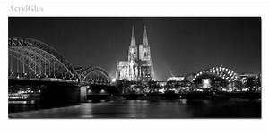 Glasbild Schwarz Weiß : k ln nachts schwarz wei ~ A.2002-acura-tl-radio.info Haus und Dekorationen