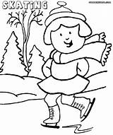 Coloring Winter Pages Sport Print sketch template