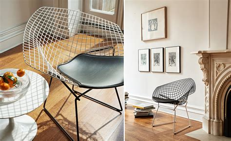 bertoia diamond chair  tone  seat cushion