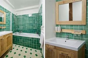 Carrelage Vert D Eau : la salle de bain verte id es d co et photo salle de bain pinterest salles de bains verts ~ Melissatoandfro.com Idées de Décoration