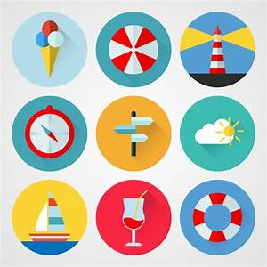 Travel icons Free vector in Encapsulated PostScript eps ...