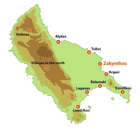 zakynthos traditional towns  tourist resorts