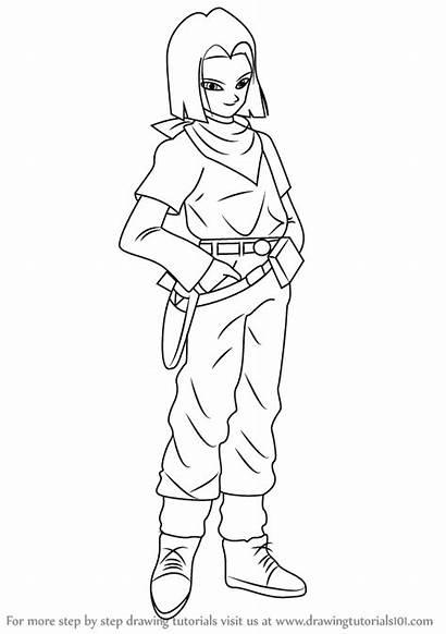 Android Dragon Ball Draw Drawing Step Manga