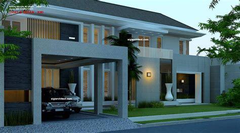 desain rumah mewah  lantai luas    tata letak