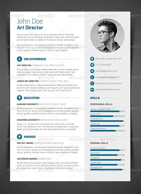 Cv Resume by 3 Resume Cv Cover Letter Graphicriver Cv