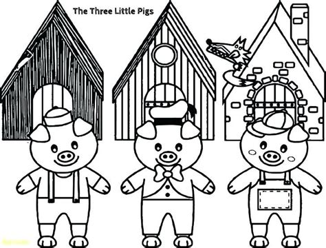The Three Little Pigs Coloring Pages Three Little Pigs