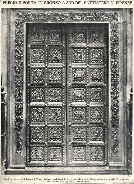 Porta Battistero Firenze andrea pisano porta sud battistero di firenze 1330