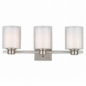 Design House Oslo 3-Light Brushed Nickel Vanity Light