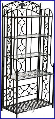 bakers rack  kitchens plant stand wrought iron outdoor