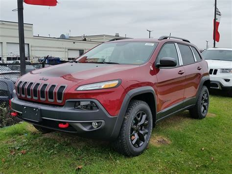 jeep cherokee trailhawk red 2016 jeep cherokee trailhawk 4x4 red for 40250 in vaughan