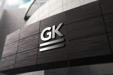 Use this bottle psd to showcase your branding designs. 3D Logo Signage Wall Mock-Up v.2 - GK Mockups Store