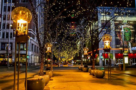 downtown denver at christmas by teri virbickis