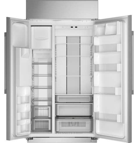 monogram zissdnss monogram  smart built  side  side refrigerator  dispenser
