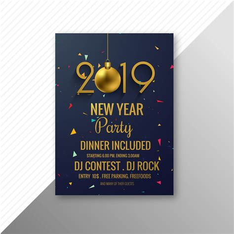 beautiful  flyer celebration party template design