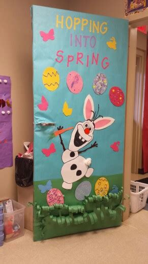 easter bulletin board ideas for preschool our olaf easter door diy projects 340