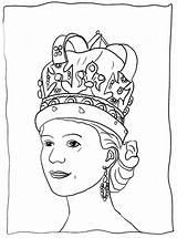 Coloring Queen sketch template