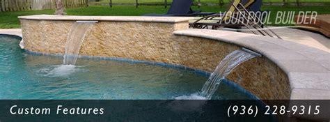 pool builder conroe inground pool spa company