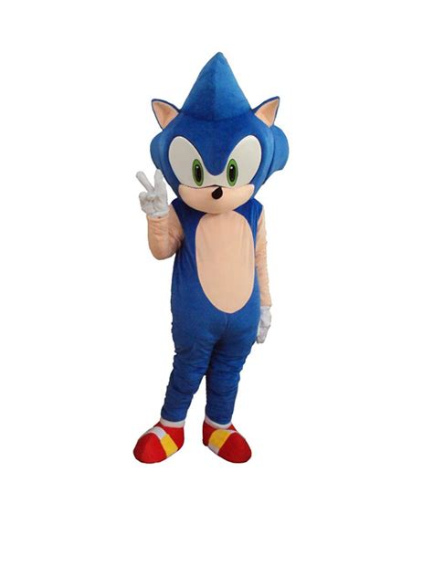 Giant Sonic the Hedgehog Mascot Costume | Costume Party World