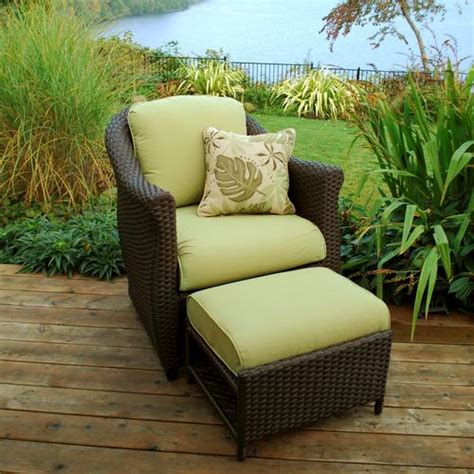 etta green fully woven chair with ottoman at menards 174