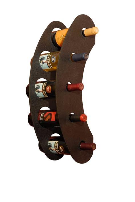wall mounted wine racks modern innovative design  funky steel