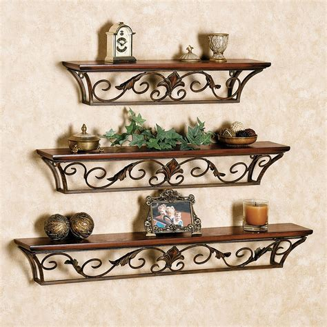 Metal Outdoor Wall Shelves
