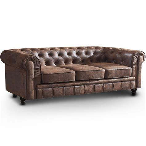 canapé chesterfield vintage canapé chesterfield 3 places vintage canapés chesterfield