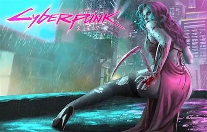 Cyberpunk Cyborg Rain Wallpapers Wallpaperaccess Cd Backgrounds