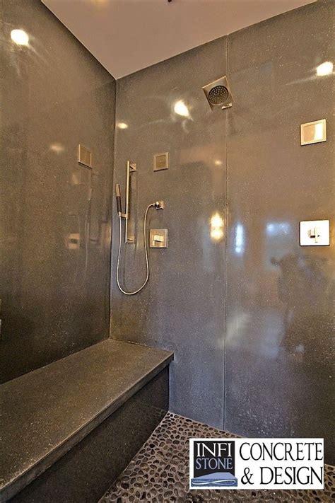 handmade concrete shower stall  infistone concrete