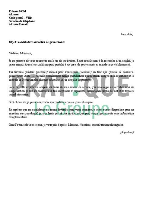 chambre maison de retraite lettre de motivation pour un emploi de gouvernante