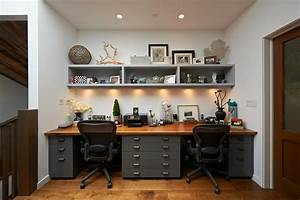 Two, Person, Desk, -, Home, Office, -, Drawer, -, Interior